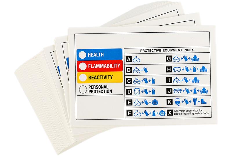 Rtk Color Bar Guide With Symbols Ratings Chemical Label Sku Lb
