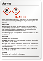 Acetone Danger Medium GHS Chemical Label