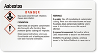 GHS Chemical Asbestos Danger Small Label