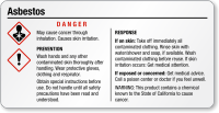 Asbestos Danger Tiny GHS Chemical Label