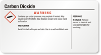 Carbon Dioxide Small GHS Chemical Warning Label