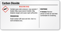 Carbon Dioxide Warning Small GHS Chemical Label