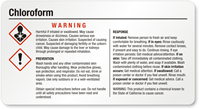 Chloroform Small GHS Chemical Warning Label