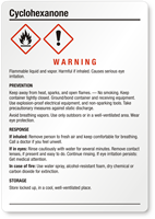 Cyclohexanone Warning Medium GHS Chemical Label