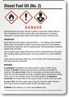 Diesel Fuel Oil Medium GHS Chemical Label