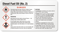 Diesel Fuel Oil GHS Chemical Small Label