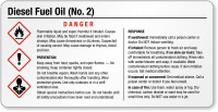 Diesel Fuel Oil Small GHS Chemical Label