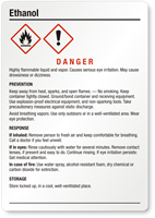 Ethanol Danger Medium GHS Chemical Label