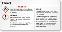 Ethanol Danger Tiny GHS Chemical Label