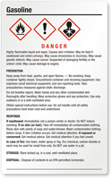Gasoline Danger Large GHS Chemical Label