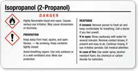 Isopropanol Danger Tiny GHS Chemical Label