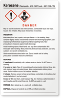 Kerosene Danger - Large GHS Chemical Label