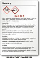 Mercury Danger Medium GHS Chemical Label