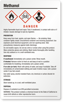 Methanol Danger Large GHS Chemical Label