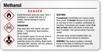 Methanol Danger Small GHS Chemical Label