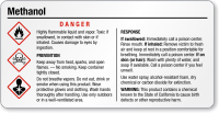 Methanol Danger Tiny GHS Chemical Label