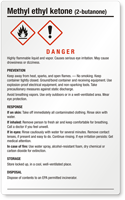 Methyl Ethyl Ketone Danger GHS Chemical Danger Label