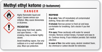 Methyl Ethyl Ketone Danger Small GHS Chemical Label