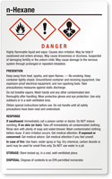 N Hexane Danger Large GHS Chemical Label