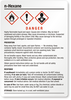 N Hexane Danger Medium GHS Chemical Label