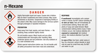 N Hexane Danger Small GHS Chemical Label