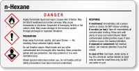 N-Hexane Danger Tiny GHS Chemical Label