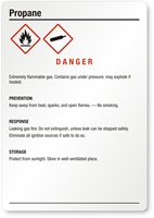 Propane Danger Medium GHS Chemical Label