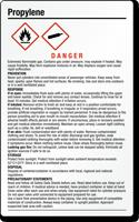 Propylene Chemical Danger GHS Label, 7.75in. x 4.75in.