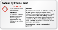 Small Sodium Hydroxide GHS Chemical Label