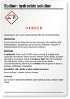 Sodium Hydroxide Danger Medium GHS Chemical Label