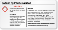Tiny Sodium Hydroxide Tiny GHS Chemical Label