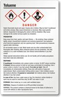 Toluene Danger Large GHS Chemical Label