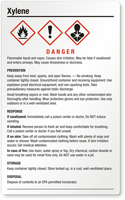 Xylene Danger Large GHS Chemical Label