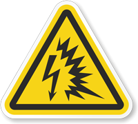 ISO W042  Arc Flash Label