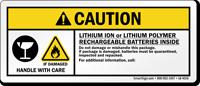 Caution Rechargeable Batteries Inside Label