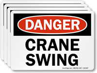 Crane Swing OSHA Danger Label