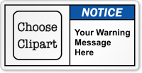 Customizable ANSI Notice Label, Choose Clipart