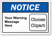 Customizable Text ANSI Notice Label, Choose Clipart