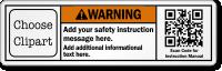 Custom Warning Label with QR Code