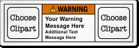 Custom ANSI Warning Label With 2 Pictos