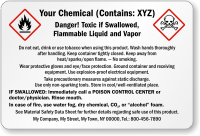 Custom Chemical Information Label