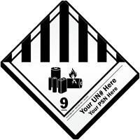 Custom Class 9 Lithium Battery Label