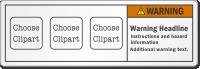 Custom ANSI Warning Label, Add 3 Cliparts