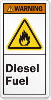 Diesel Fuel ANSI Warning Label