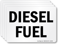 Diesel Fuel Chemical Hazard Label