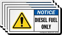 Diesel Fuel Only Label