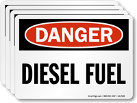 Diesel Fuel OSHA Danger Label