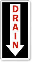 Drain Direction Down Arrow Label