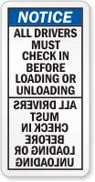 All Drivers Must Check Before Loading Mirror Label