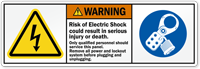 Risk Of Electric Shock Result In Injury Label